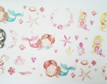 Design Washi tape Little Mermaid Starfish masking tape