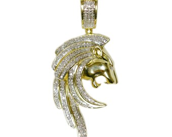 2.30 CT. Roaring Lion Diamond Pendant in 10K Gold