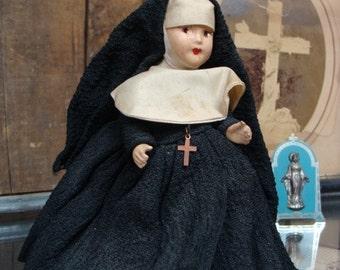1950s Antique Nun Doll