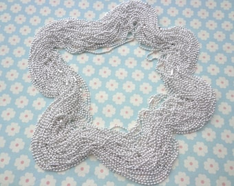 38 Silver Ball Chain Necklaces - 18 inch, 2.0mm