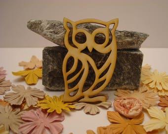 OWL 02071 embellishment wooden creations