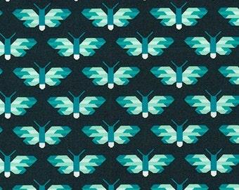 Butterfly Blue Pacific Elizabeth Hartman Robert Kaufman Fabric 1 yard