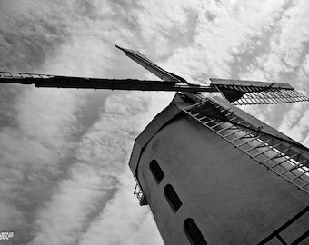 Windmill, Ireland, English, Black and White, Grain Mill, Tralee, Dynamic, Dutch, Fine Art Photography, Ring of Kerry, St. Patricks Day