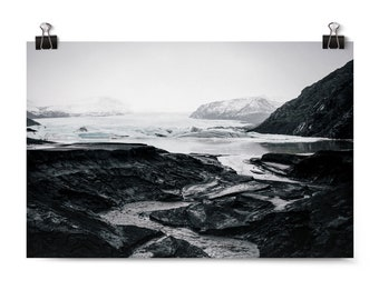 "Large Wall Art, Landscape Photography, Iceland Art Print, Glacier, Travel, Fine Art Photography, Home Decor, Affordable Wall Art ""Awestruck"""