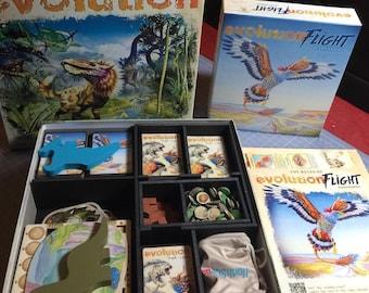 Evolution + Flight Expansion board game insert