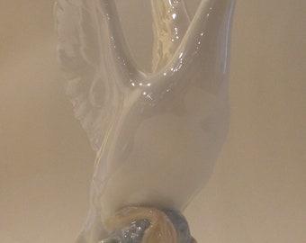 Lladro Swan Figurine; NAO Made in Spain