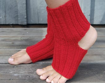 100 % Wool Wms Yoga Socks - Hand-knitted in Finland
