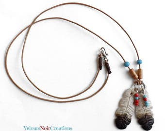 Native American Eagle Feather necklace