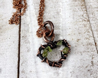 Peridot Heart Pendant Necklace