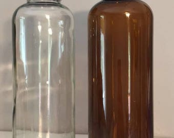 Glass bottles/heart bottom/ 15.2 fluid ounces/450 mL/clean and ready  kombucha bottles/crafts/