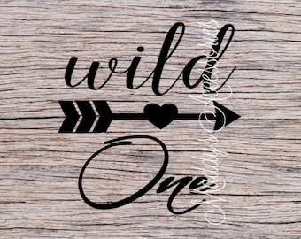Iron on decal - Wild One - baby / child clothing accessory