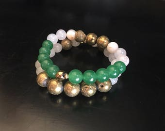 Green Aventurine Stacker Set