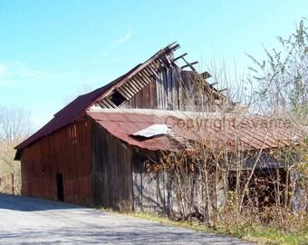 Rusty Roadside BARN T17 Photograph Tennessee - Barn Photography
