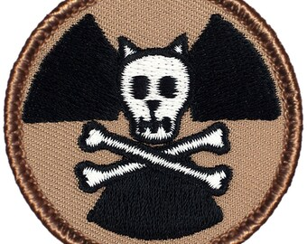 Glow-in-the-Dark Schrodinger's Cat Patch - 2 Inch Diameter Embroidered Patch
