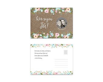 Save the date cards to scratch, 25 pieces