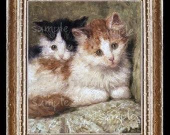 Kittens Miniature Dollhouse Art Picture 6089