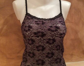 Warm velvet lace Camisole lingerie Top, size XS