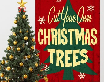 Cut Your Own Christmas Trees Wall Decal - #71335