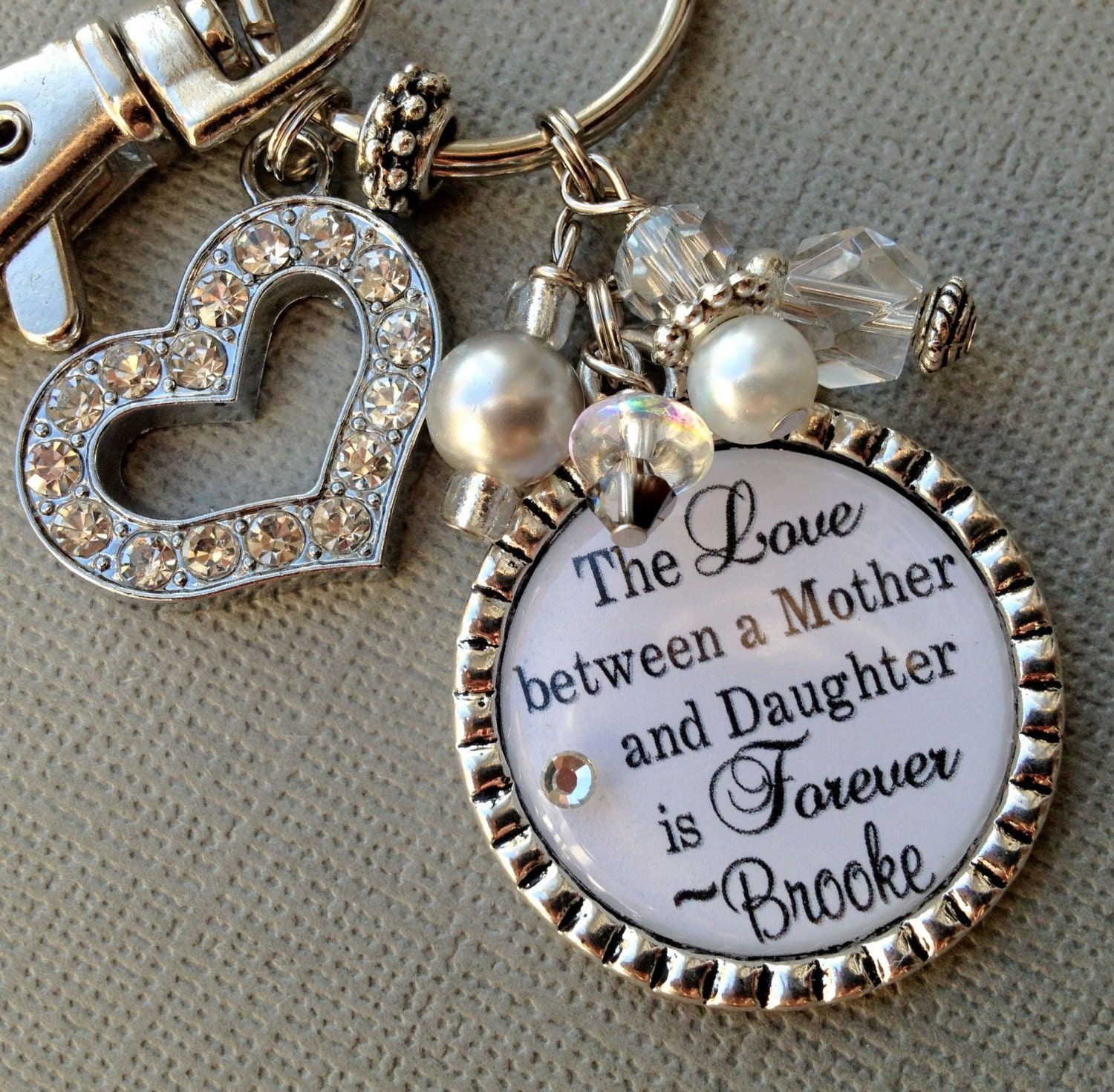 Mother Daughter Love Quotes Mom Gift Personalized Gift Mother Daughter Quote Charm