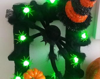 Halloween light up frame
