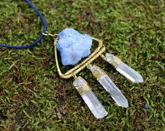 Drusy & Crystal Necklace