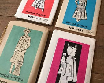 Vintage Sewing Patterns, Set of Four, SN05