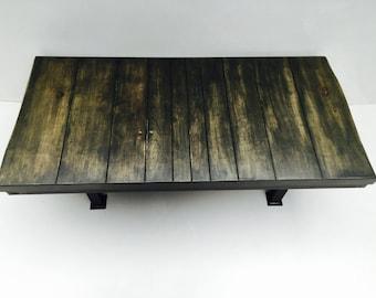 Industrial Coffee Table. Reclaimed Wood.