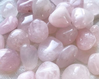 Rose Quartz - Rose Quartz Crystal - Rose Quartz Stone - Tumbled Rose Quartz - Polished Rose Quartz - Pink Crystal - Healing Crystals - Love