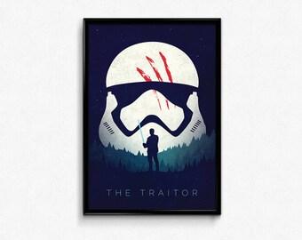 Star Wars The Force Awakens Finn Poster Print