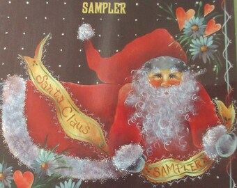 """K Vintage Decorative Tole painting """" Santa Claus Sampler Book 6"""" 1994  used booklet 36 pages"""