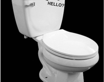 Funny Hello  Bathroom toilet vinyl decal removable