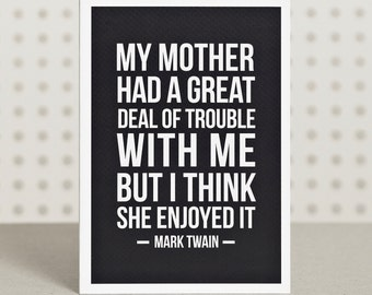 Motherly Love - Birthday / Mother's Day Card