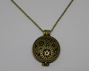Steampunk Inspired Bronze Necklace