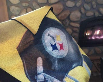 Steeler's Quilted Throw Blanket