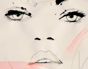 Shadow Opus  - Fashion Illustration Portrait Art Print