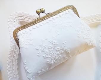 White Lace Purse