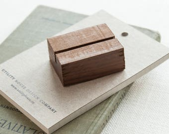 Small Wood Stand / Place Card, Business Card, Retail Signage Holder