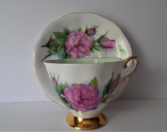 Royal Standard vintage Teacup &Saucer. Fine Bone China Teacup and Saucer.Mothers day gift.Gift idea. Floral China. Afternoon Tea set.