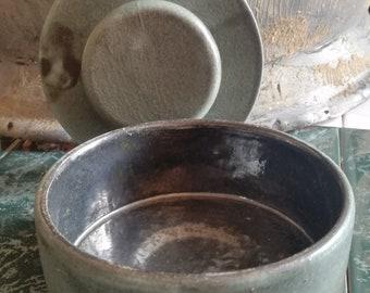 Vintage, ceramic, ceramics, pottery, pottery, tin, bowl, can, bowl, reservoir, storage tank