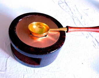 Wax wooden melting stove tool