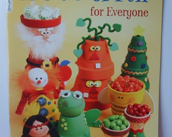 Pots of Fun for Everyone Craft Book, Clay Pot Art, Children's Crafts, School Crafts, Holiday Projects, by Design Originals