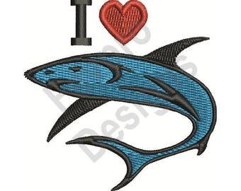 Love Sharks - Machine Embroidery Design