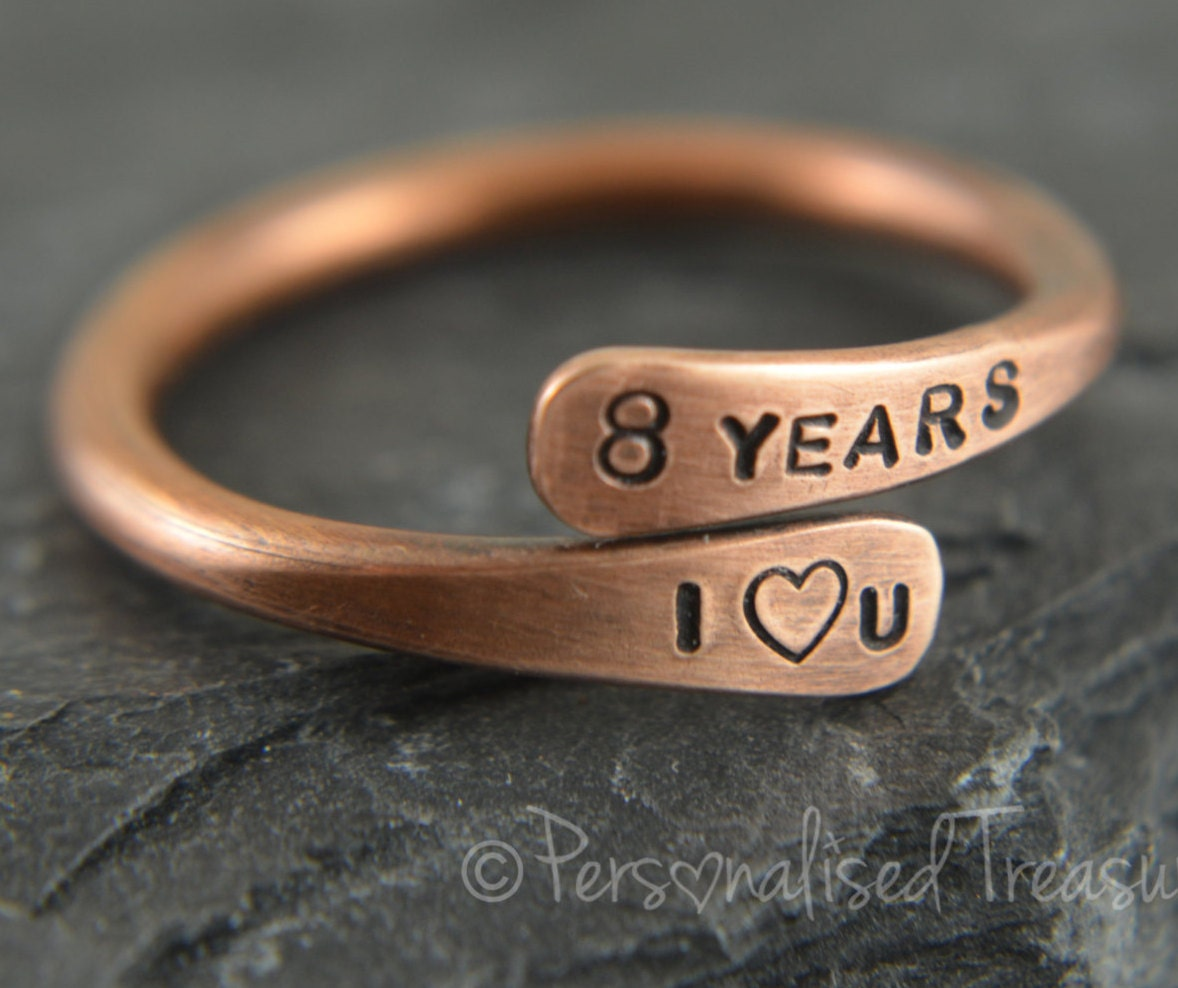 Brass Gifts For Wedding Anniversary: Bronze Ring Bronze Anniversary 8th Anniversary Gift Bronze