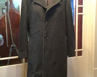 SPRING SALE! Cool vintage men's 1969 Canadian Forces green wool overcoat (A155) Ufv5MWX9hj