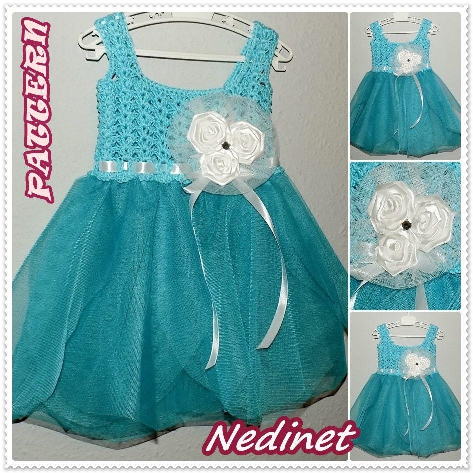 Crochet tulle baby dress pattern crochet baby dress pattern zoom bankloansurffo Gallery