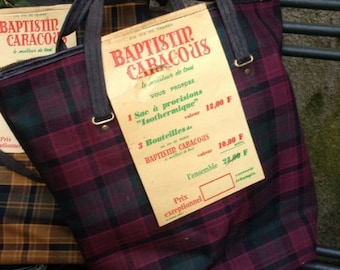 cool vintage advertising wine BAPTISTIN CARACOUX bag
