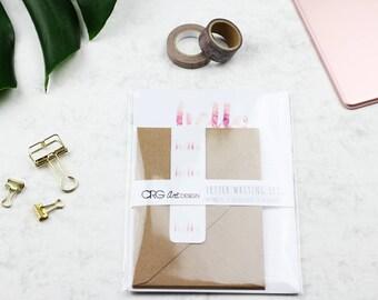 Floral Hello Letter Writing Set | Snailmail Penpals Stationery