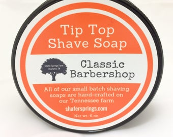 Tip Top Shaving Soap - Handmade Small Batch Shave Soap - Wet Shaving - Made by hand on our Tennessee farm