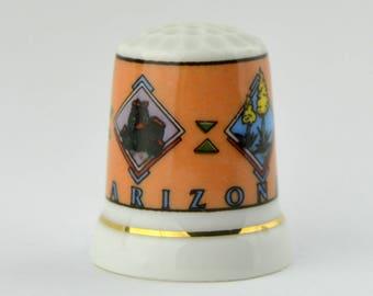 Vintage Arizona Souvenir Porcelain Thimble