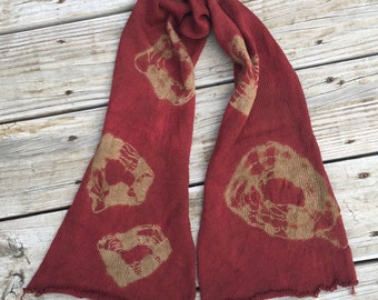 hand dyed sock blank OOAK single strand sock yarn blank Treasured Toes 463 yards superwash merino nylon swm burgandy gold tan maroon